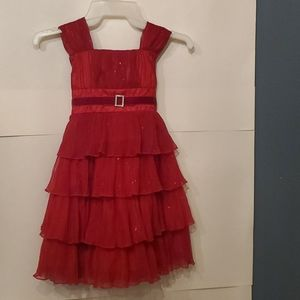 jona michelle red sparkly red dress girls 5